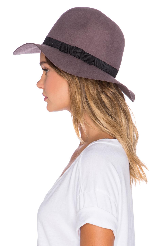 Lyst - Brixton Dalila Hat in Purple 7527b0615de