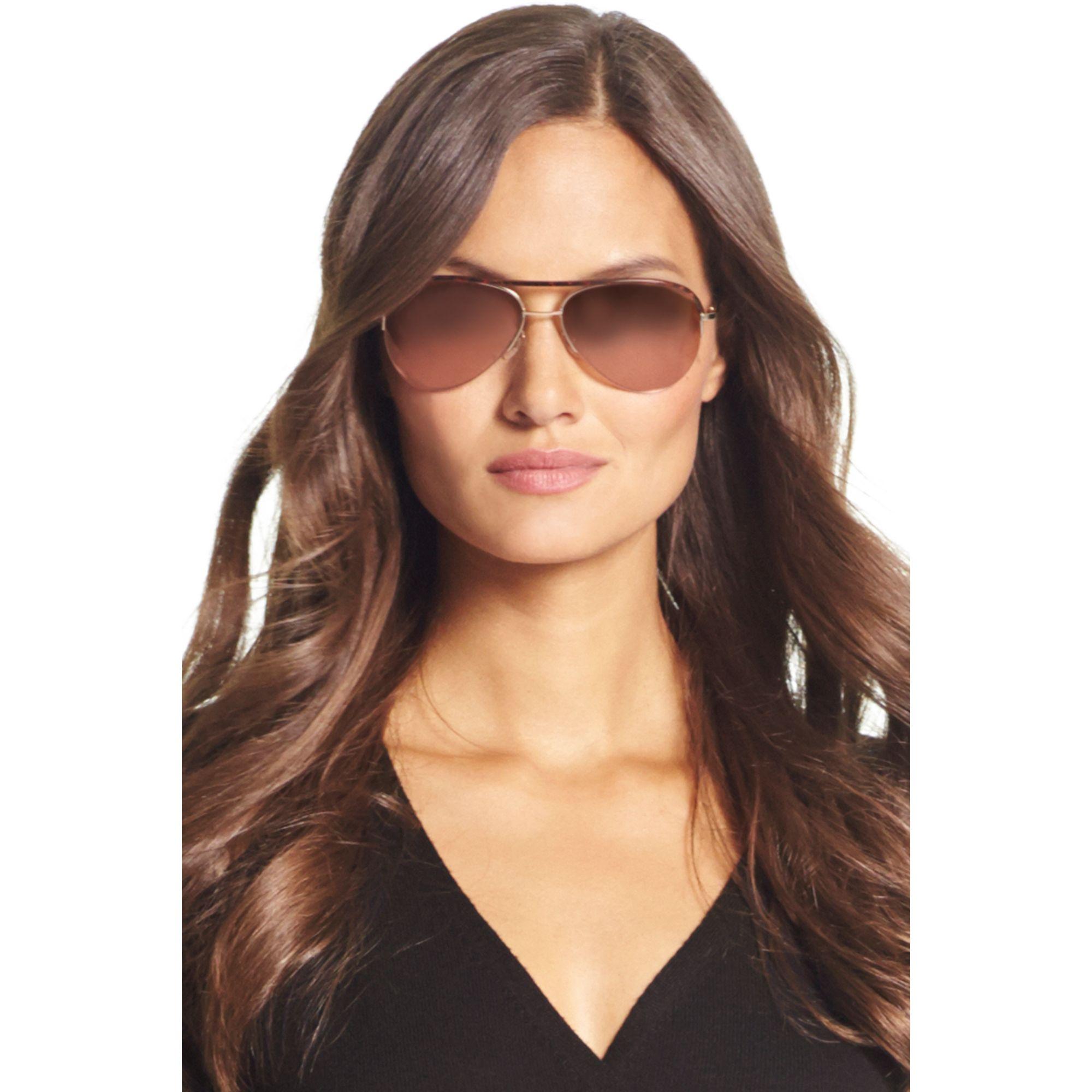 mirrored aviator sunglasses womens  Diane von furstenberg Farrah Mirrored Aviator Sunglasses in ...