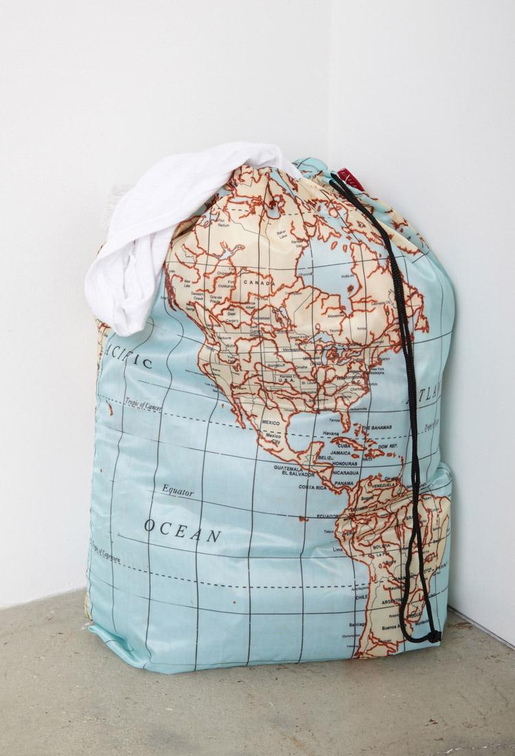 Lyst Forever 21 Kikkerland World Map Laundry Bag In Blue For Men