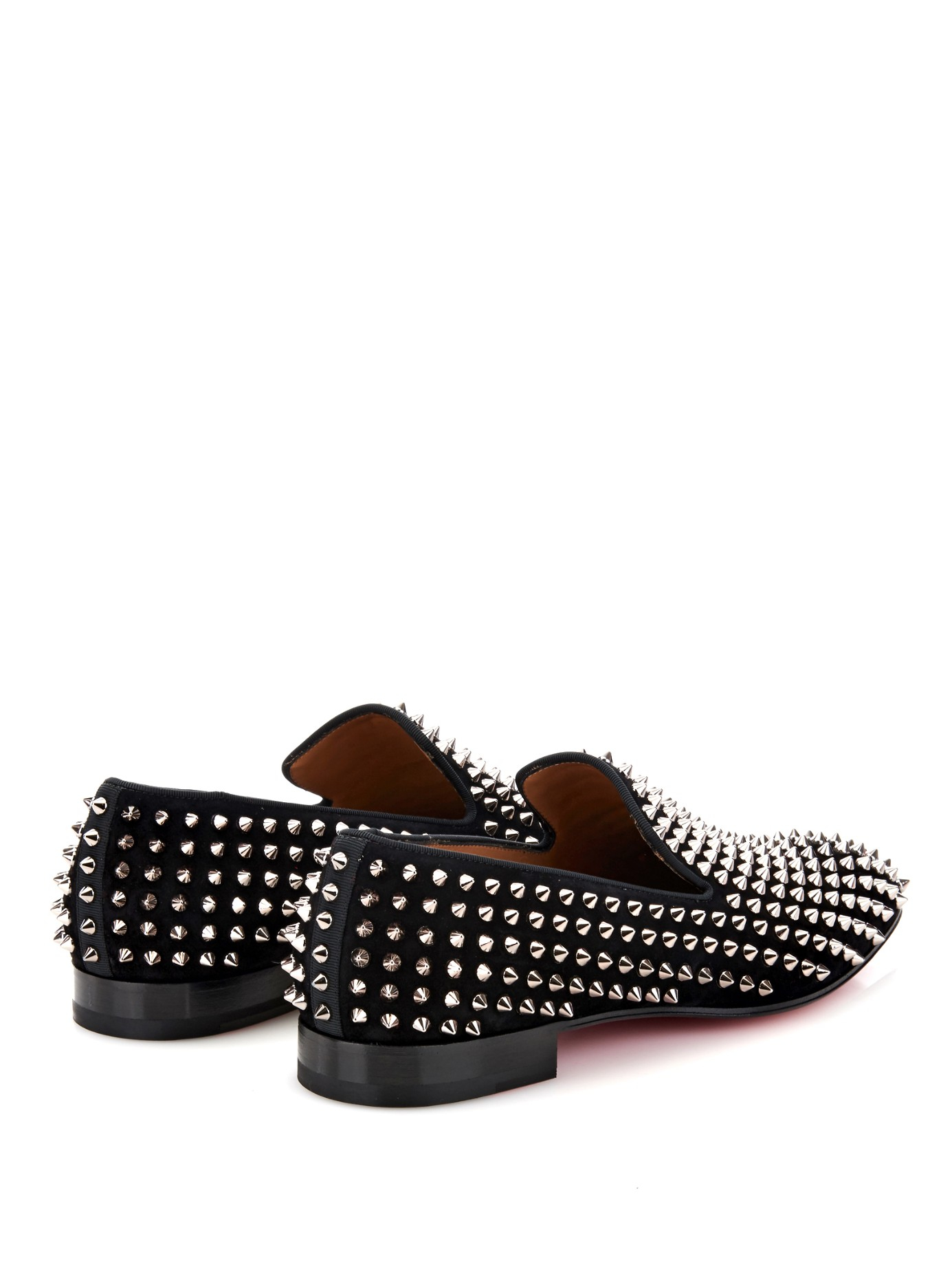 317a7208cc21 Christian Louboutin Dandelion Studded Suede Loafers in Black for Men - Lyst