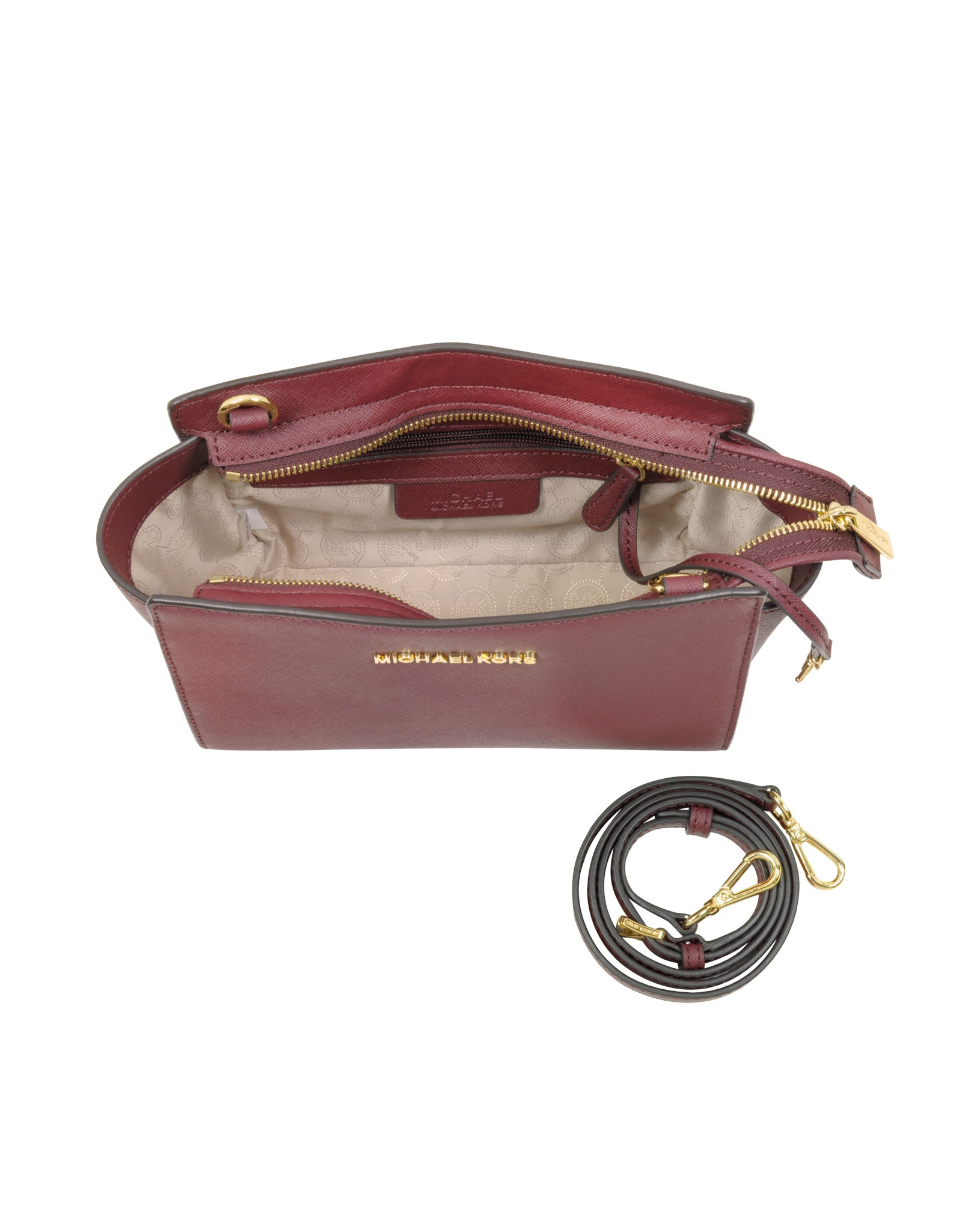 c5926f11df55 Michael Kors Selma Saffiano Leather Medium Messenger Bag in Purple ...