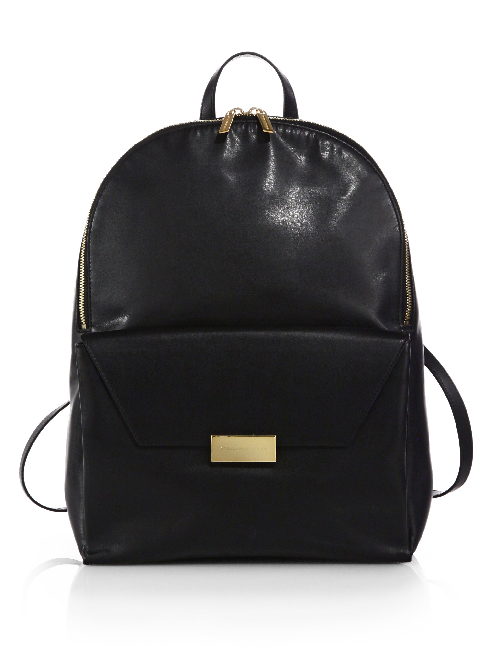Stella mccartney Beckett Faux Leather Backpack in Black   Lyst