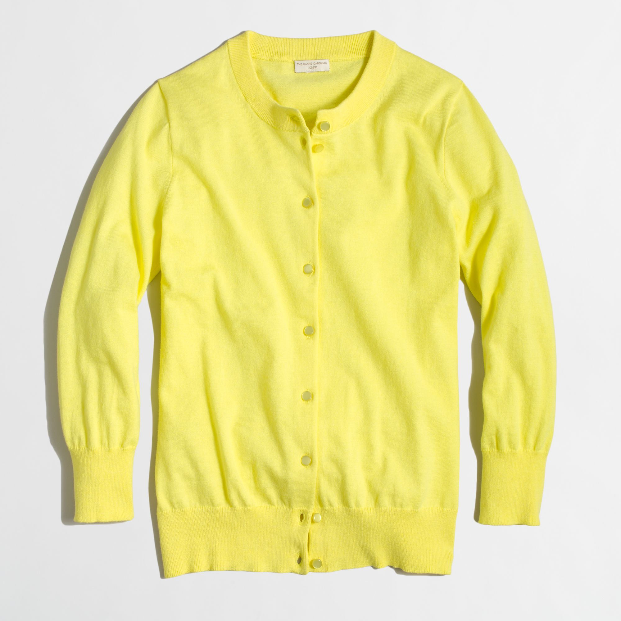 J.crew Factory Clare Cardigan in Yellow | Lyst