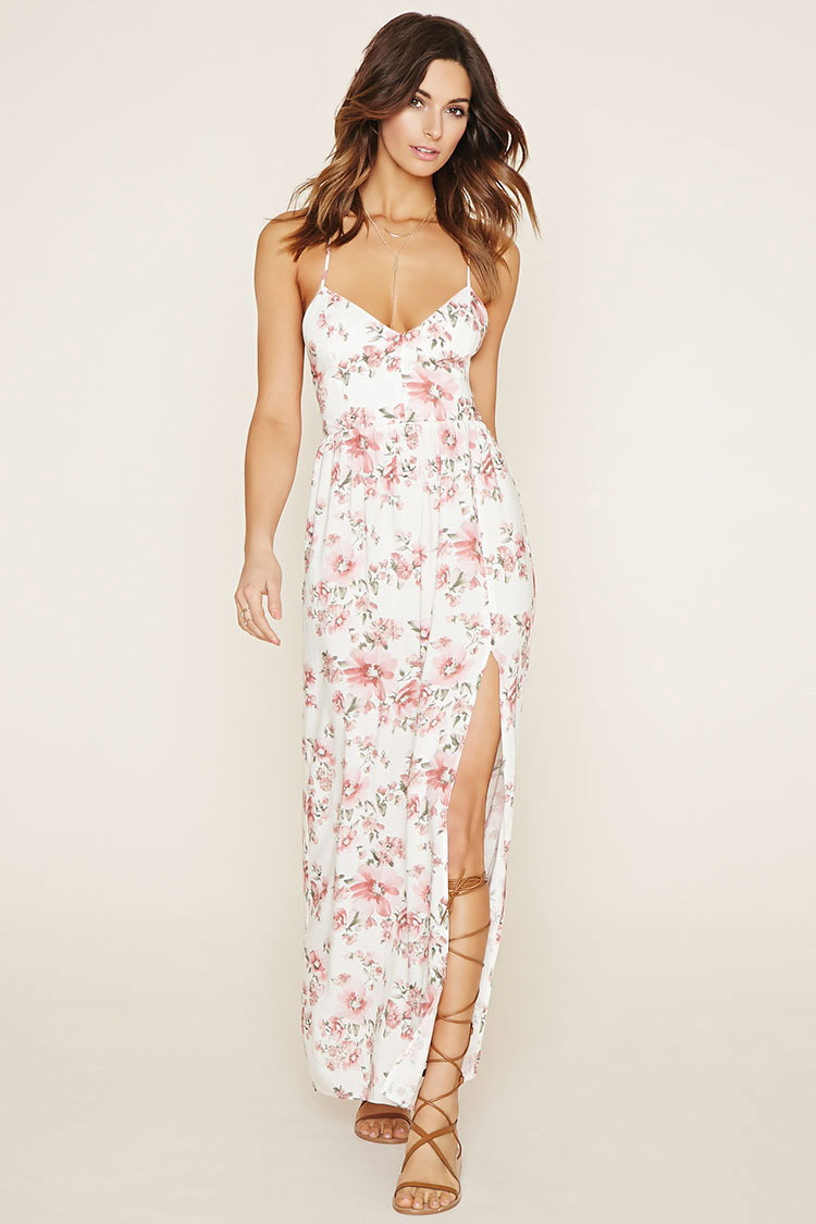 Forever 21 Floral Maxi Dress | Lyst