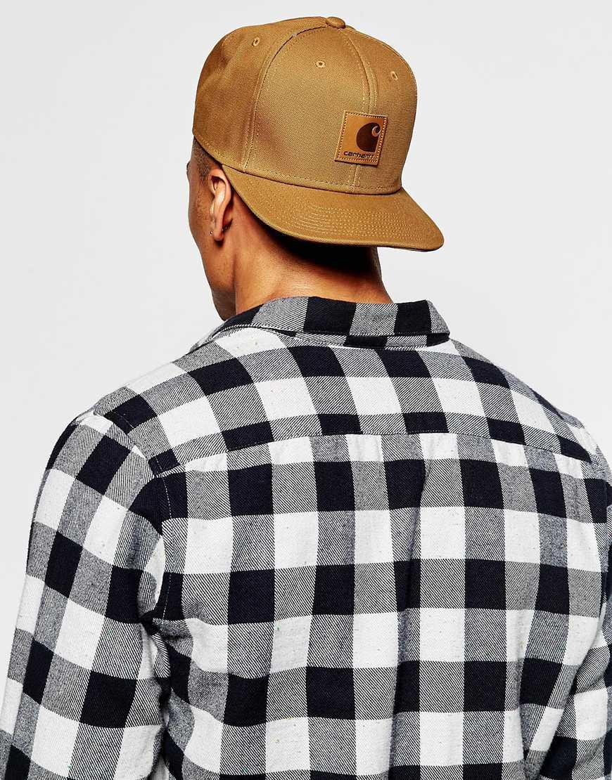 62ff24060a3 ... sweden lyst carhartt wip carhartt logo starter cap in brown for men  7ccd7 851b8 ...