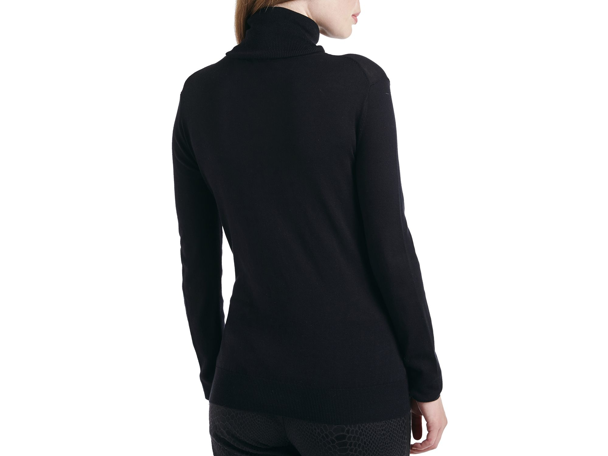 Ted baker Vione Silk-cotton Turtleneck Sweater in Black | Lyst