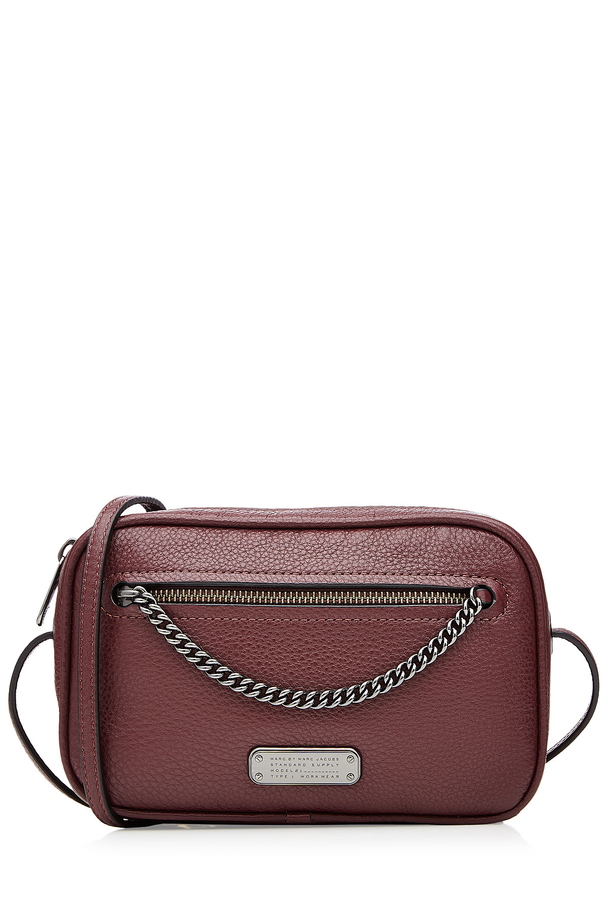 Marc By Jacobs Laukku : Marc by jacobs sally leather shoulder bag red in