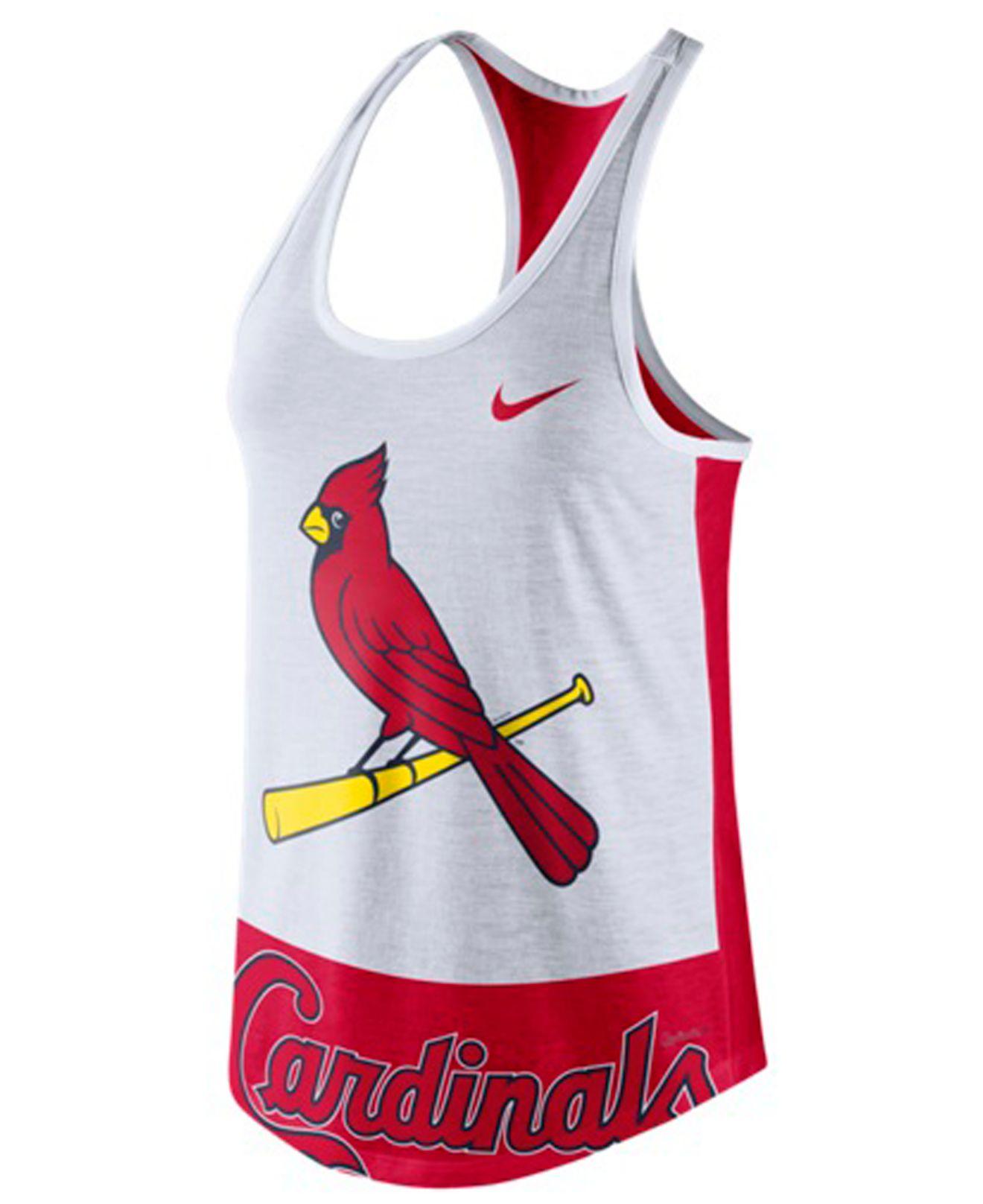 Nike Women's St. Louis Cardinals Tri-logo Tank Top in Pink (White ...