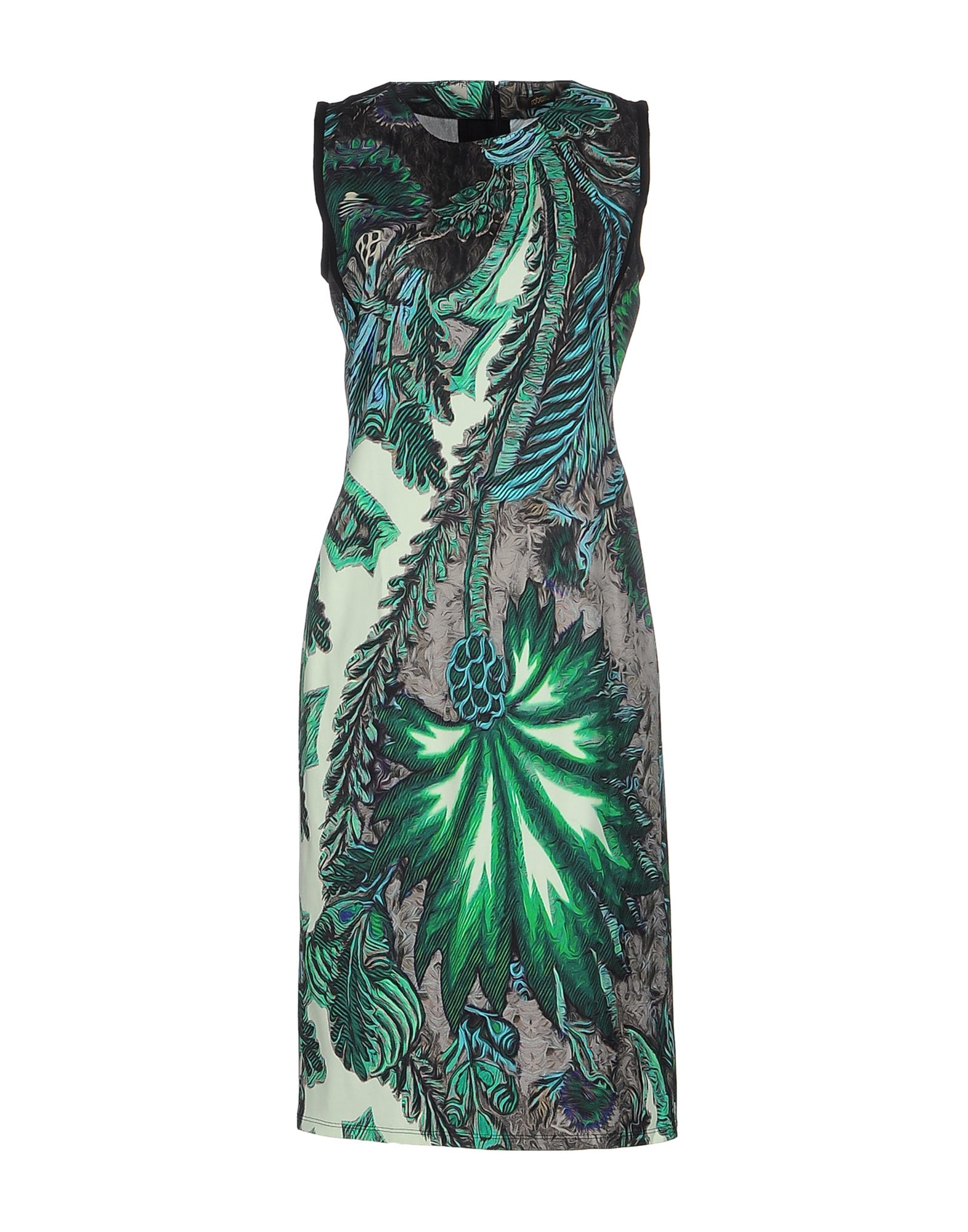 Lyst Roberto Cavalli Knee Length Dress In Green