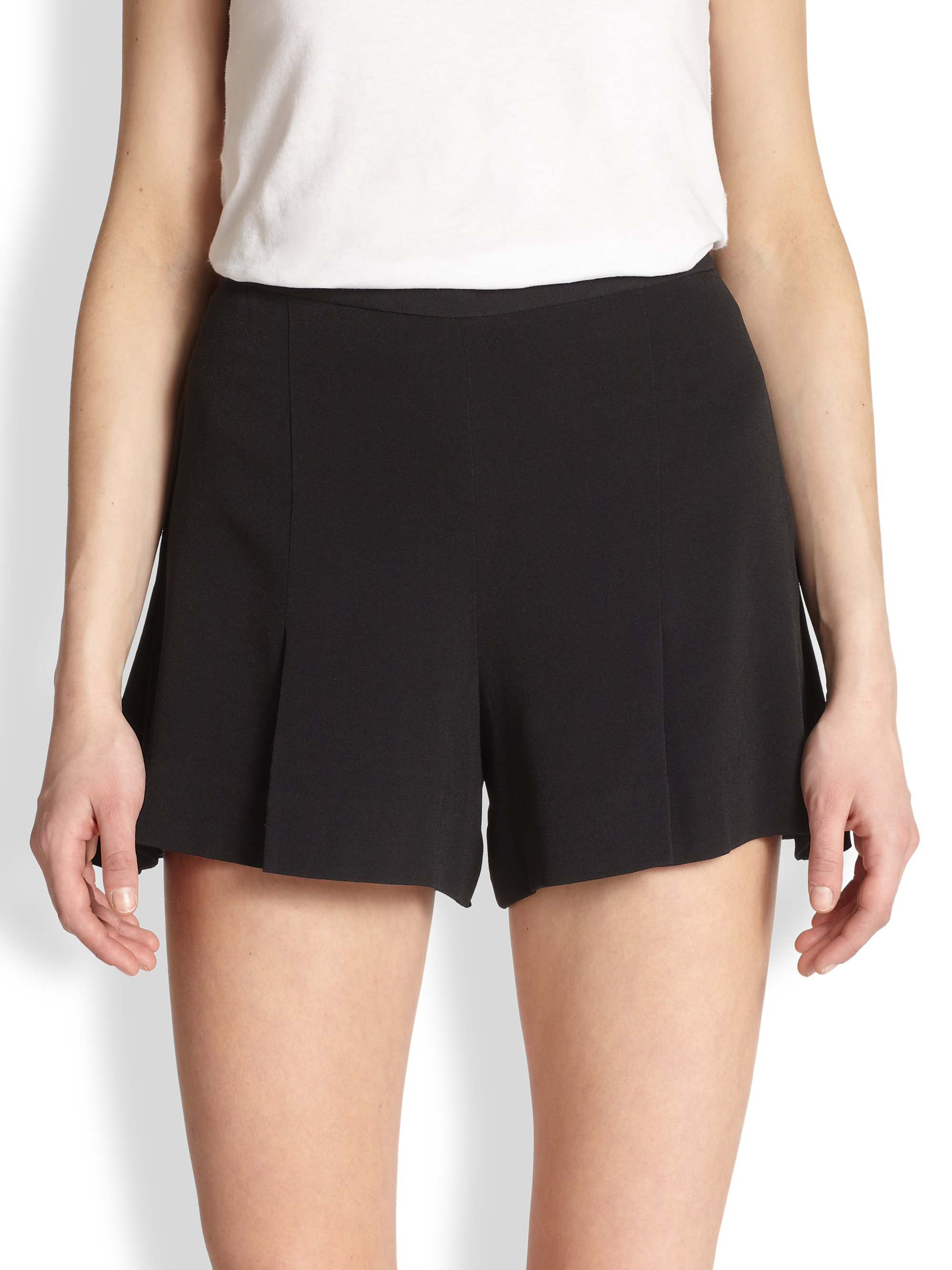 By malene birger Vahini High-Waisted Stretch Shorts in Black | Lyst
