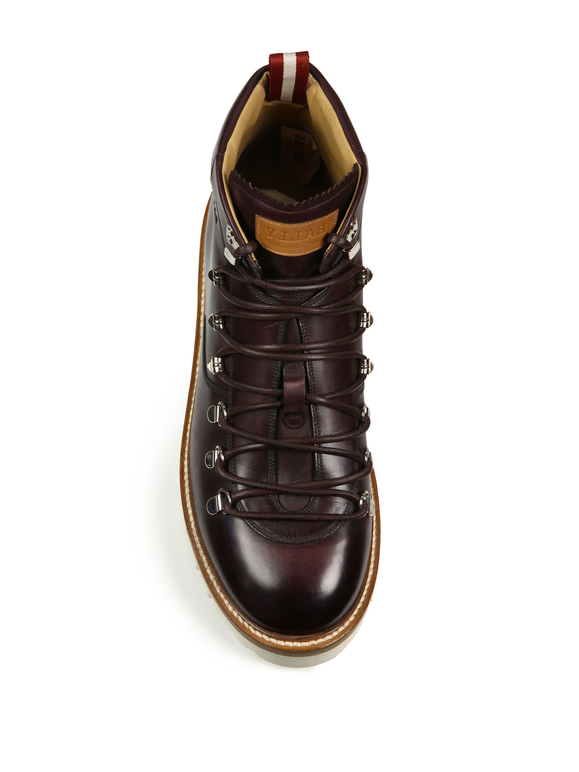 Lyst Bally J Cole For Leather Hiking Boots In Red For Men