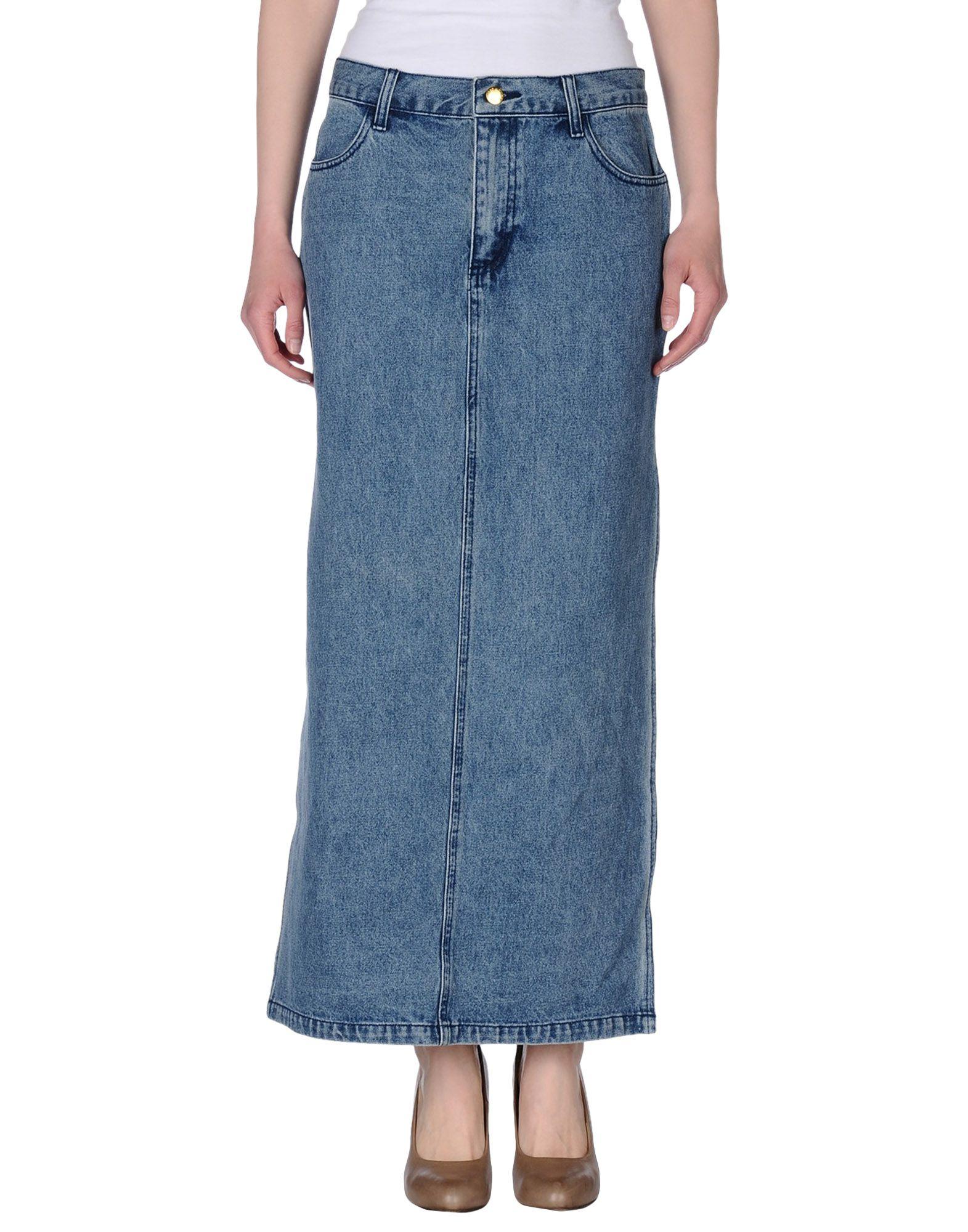 cheap monday denim skirt in blue lyst