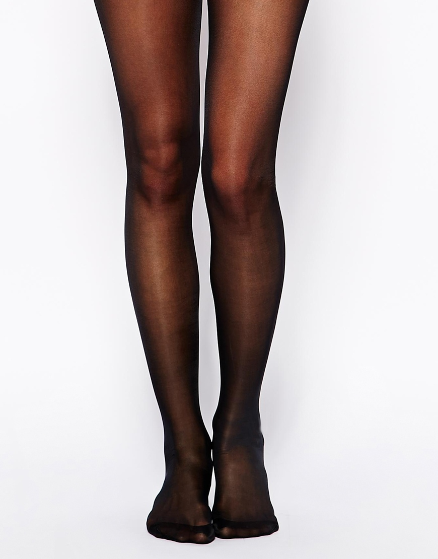 be5dacd68 Wolford Miss W 30 Denier Support Tights in Black - Lyst