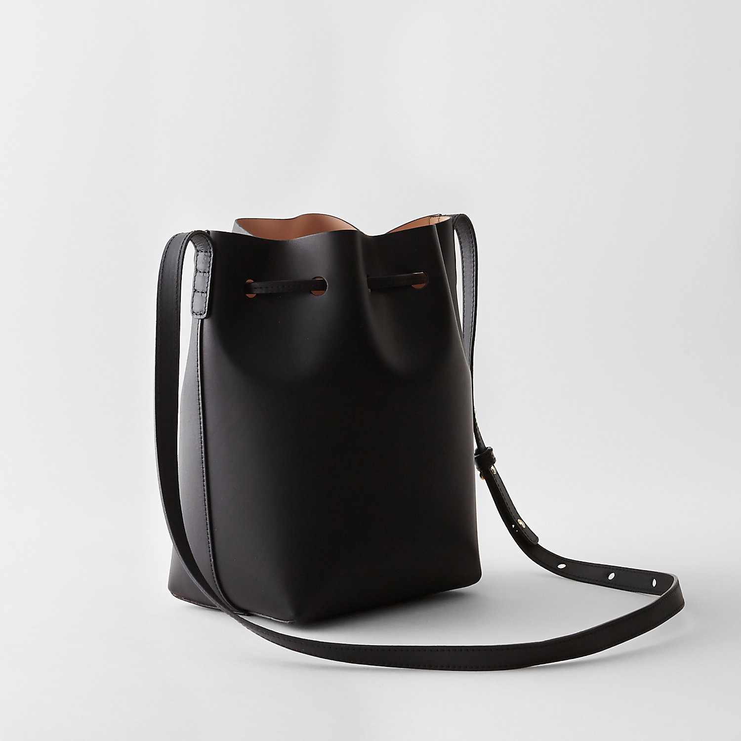 mansur gavriel mini bucket bag in black black ballerina. Black Bedroom Furniture Sets. Home Design Ideas