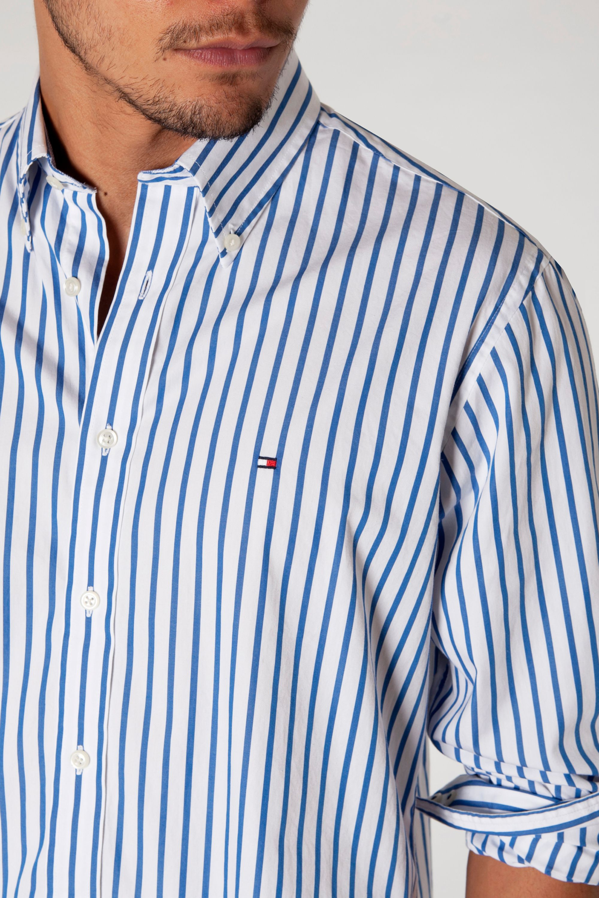Mens Core Stripe Casual Shirt Tommy Hilfiger Cheap Sale Best Place Free Shipping Best Prices Buy Cheap Prices Great Deals Sale Online zb7gSMzja
