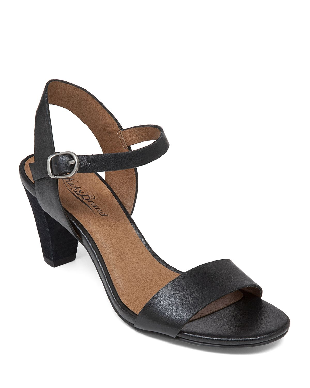e0c85654997a Lyst - Lucky Brand Ankle Strap Sandals - Pepperr Mid Heel in Black