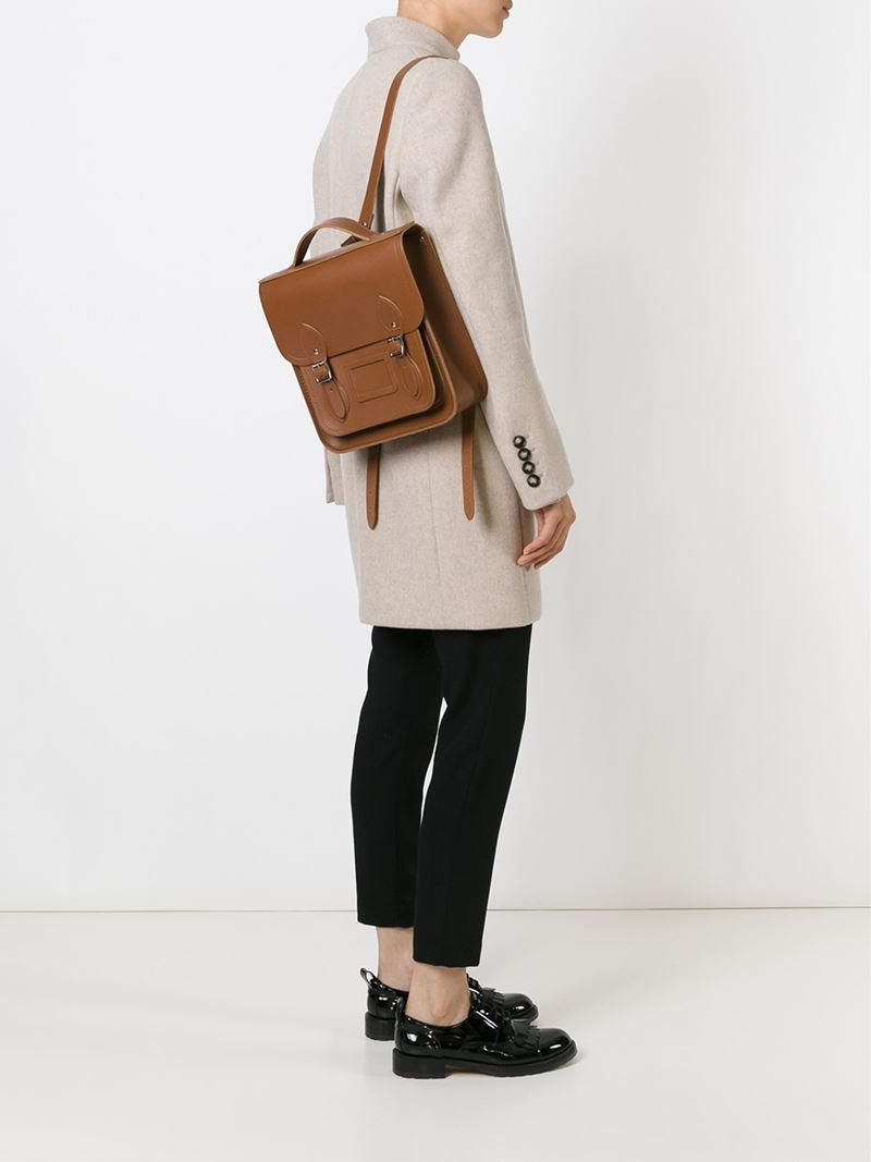5551138a1bde Lyst - Cambridge Satchel Company  the Small Portrait  Backpack in Brown