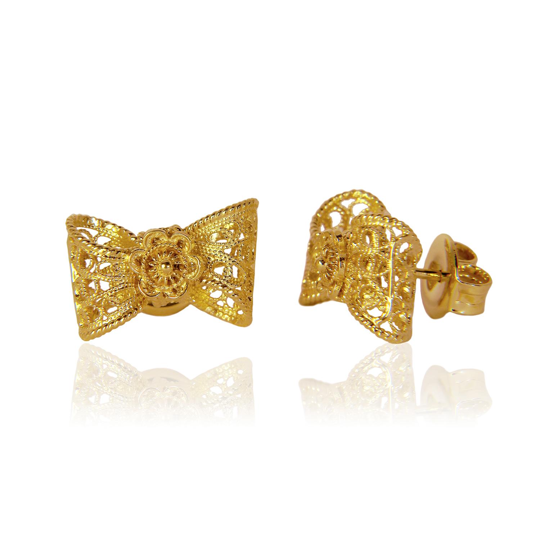 Arabel lebrusan Filigree Bow Stud Earrings Gold in Gold | Lyst Yellow Diamond Stud Earrings