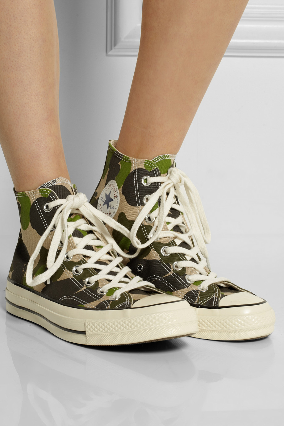 58e654643ef9 Lyst - Converse Chuck Taylor All Star  70 Printed Canvas High-Top Sneakers  in Green