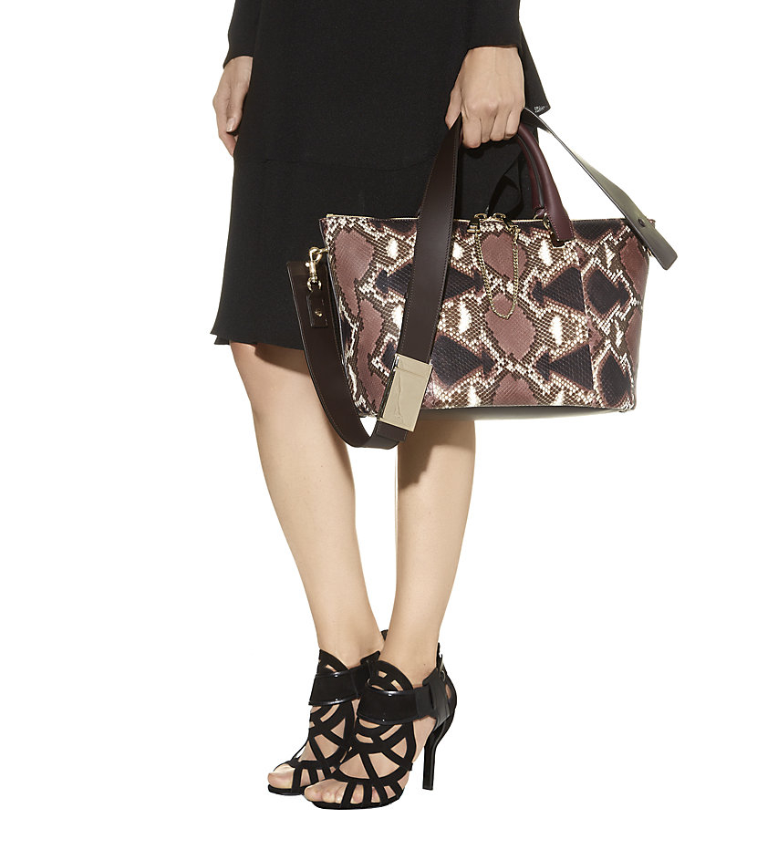 Chlo¨¦ Medium Baylee Python Bag in Brown | Lyst