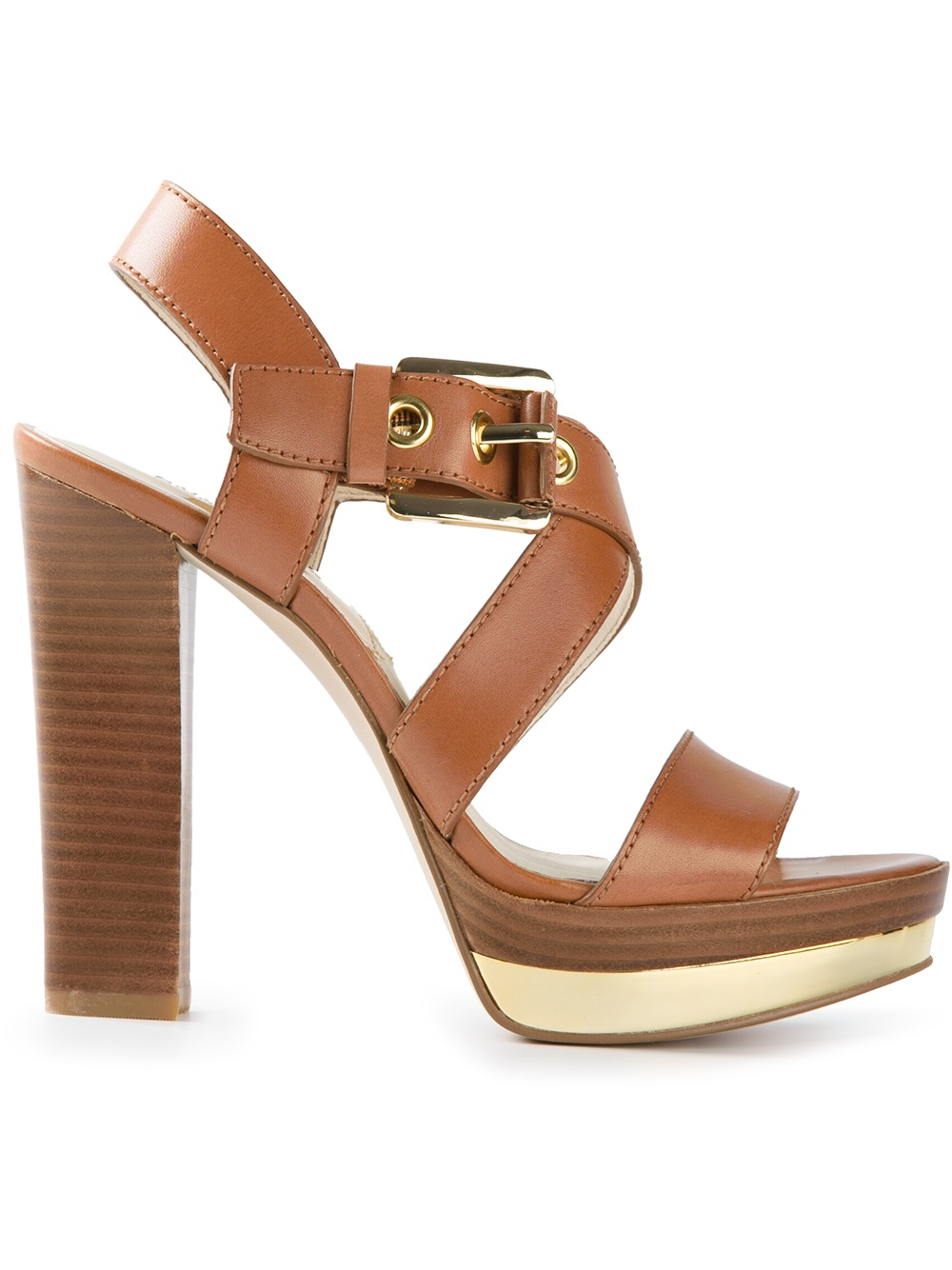 Michael Kors Brown And Gold Shoes