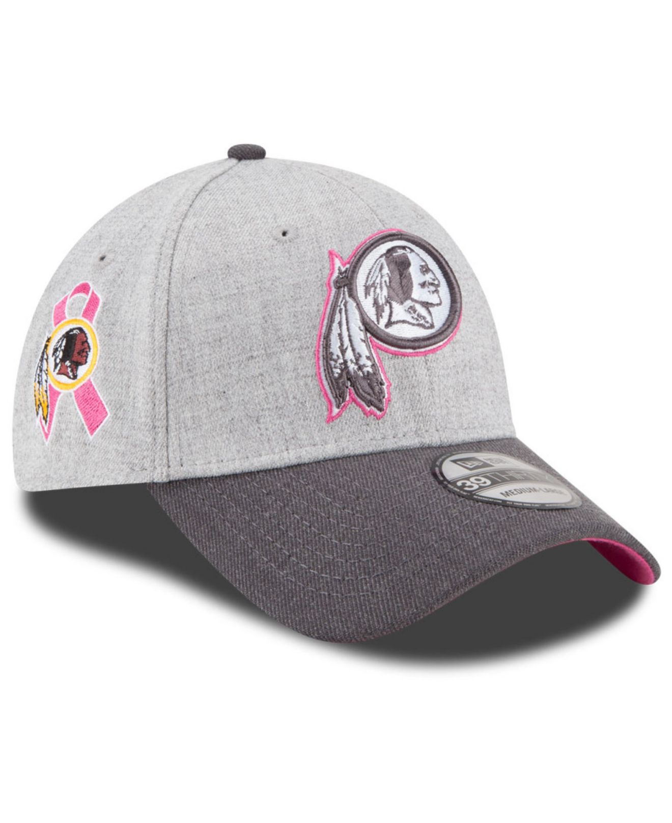 ... heather gray fbcde 517d2  promo code for lyst ktz washington redskins breast  cancer awareness 39thirty cap 56056 2b902 123905a71