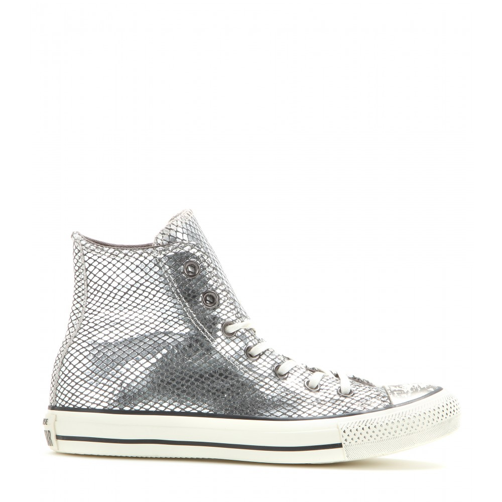 Converse chuck taylor all star high top sneakers in gray - Graue converse ...