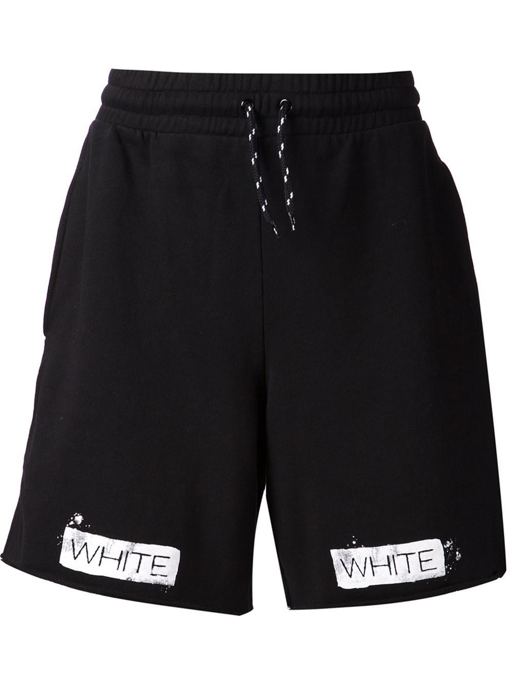 Off-white c/o virgil abloh Striped Cotton Shorts in Black for Men ...
