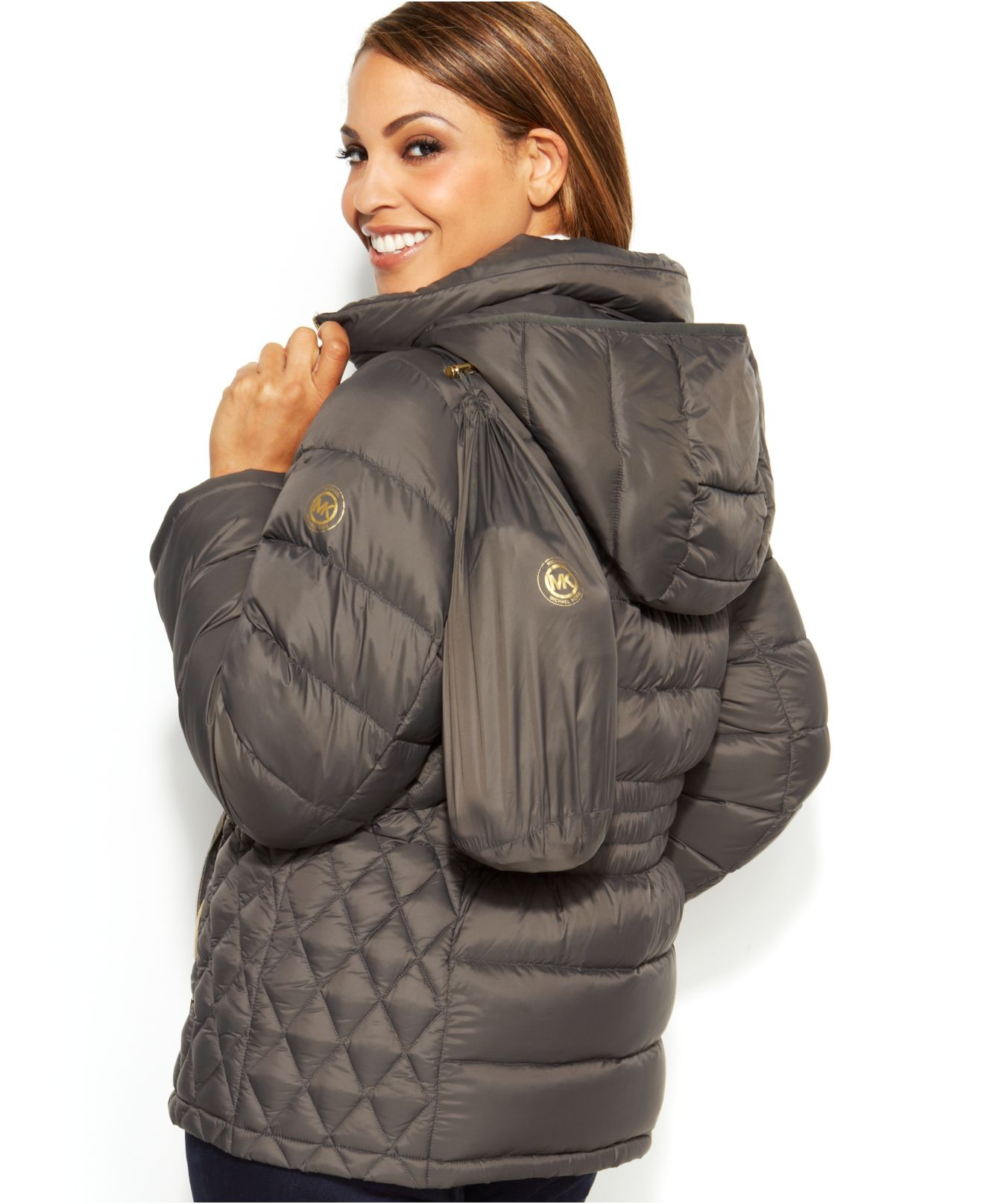 Michael kors Michael Plus Size Hooded Quilted Down Packable Puffer