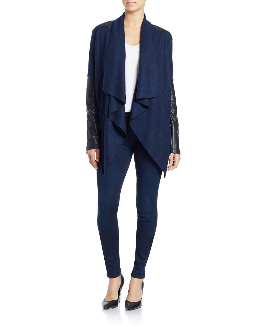 Blank Waterfall Cardigan in Blue | Lyst
