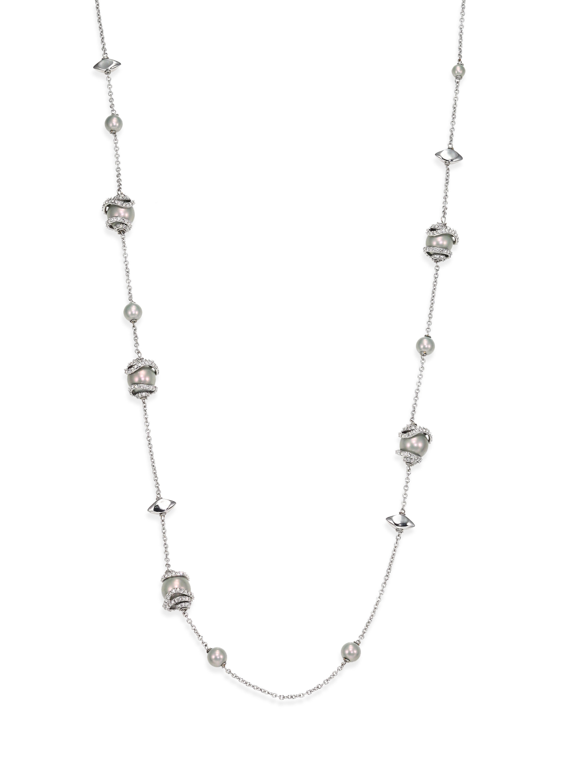 Alexis Bittar Crystal Encrusted Abstract Station Necklace p4YV2sxIun