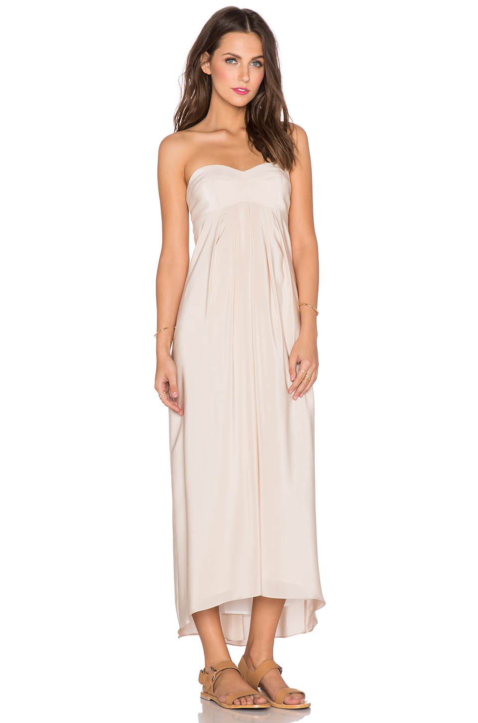 2441b13d661b Amanda Uprichard Tie Back Maxi Dress in White - Lyst