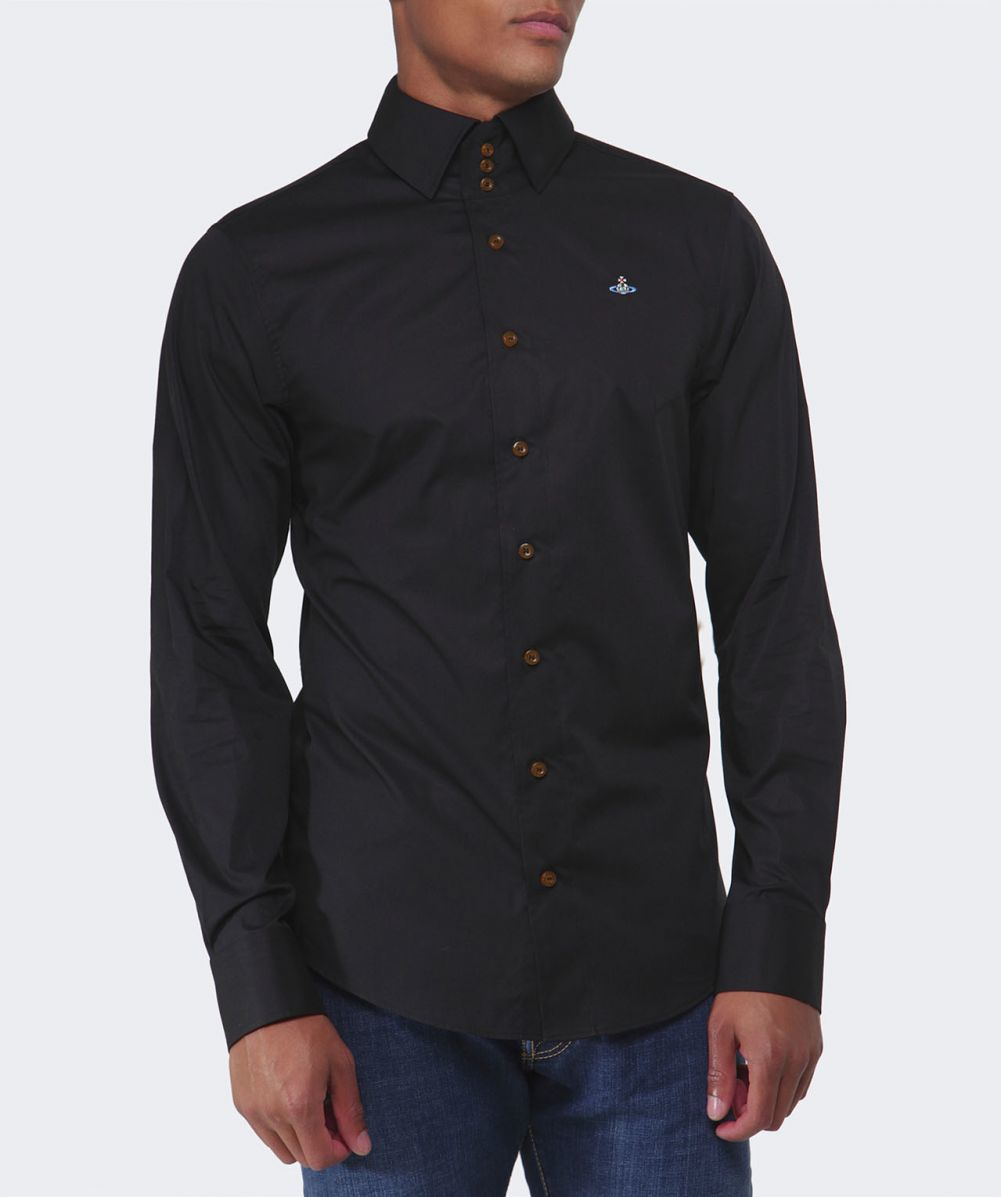 Vivienne westwood Three Button Orb Shirt in Black for Men | Lyst