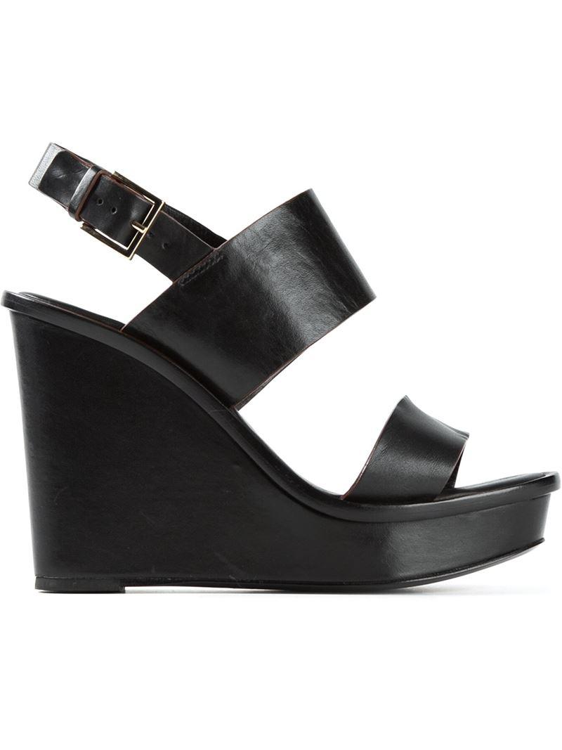 90d88b7e2b5 Lyst - Tory Burch Wedge Platform Sandals in Black