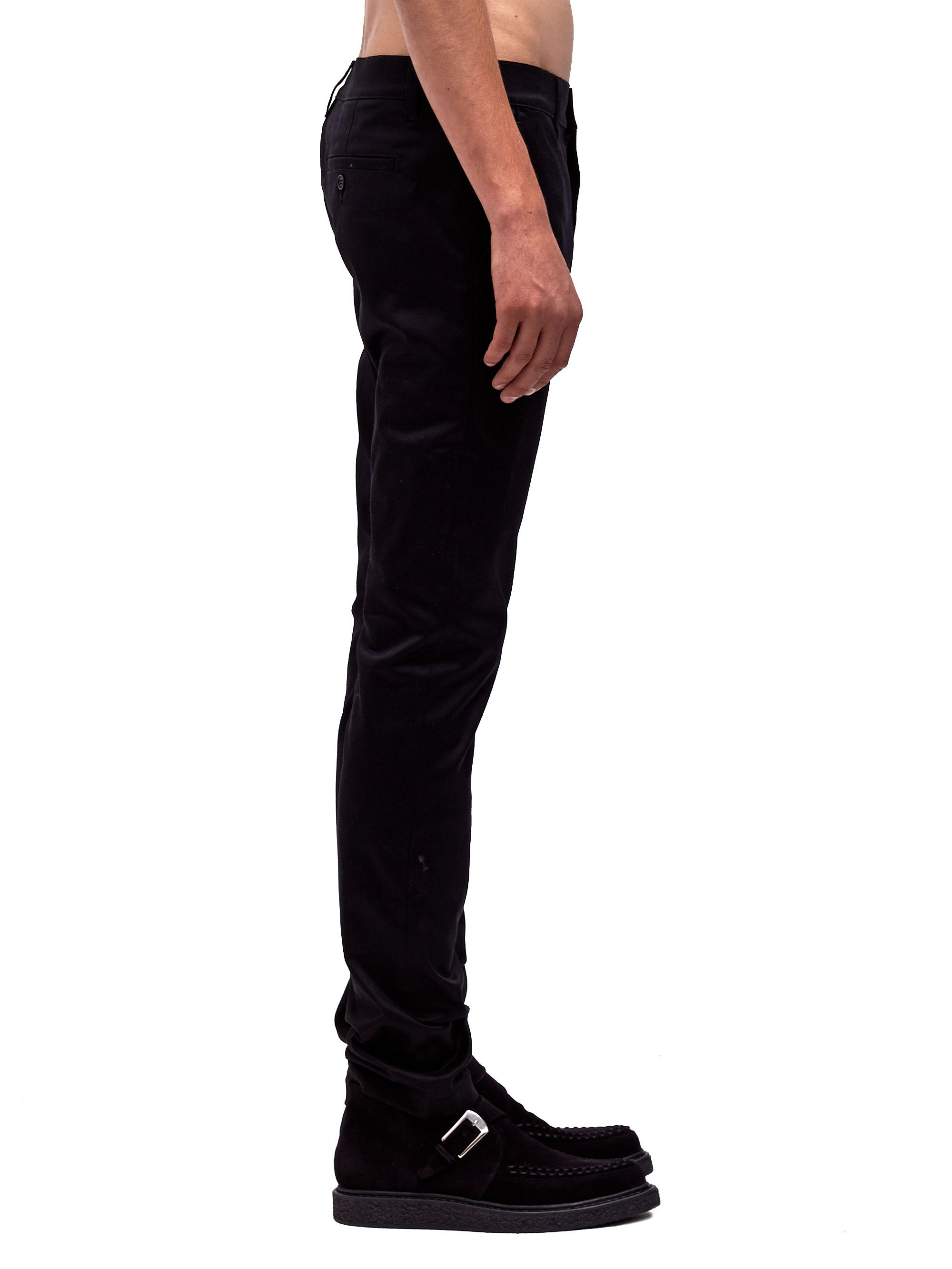 445cdf06e380e6 Saint Laurent Mens Slim Fit Chino Pants in Black for Men - Lyst