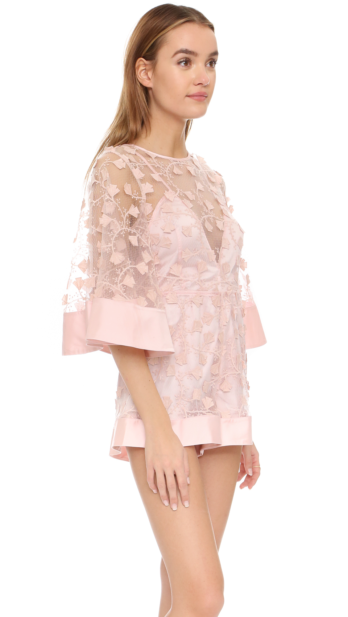 53aadf75b78b Lyst - Alice McCALL Applique Romper in Pink