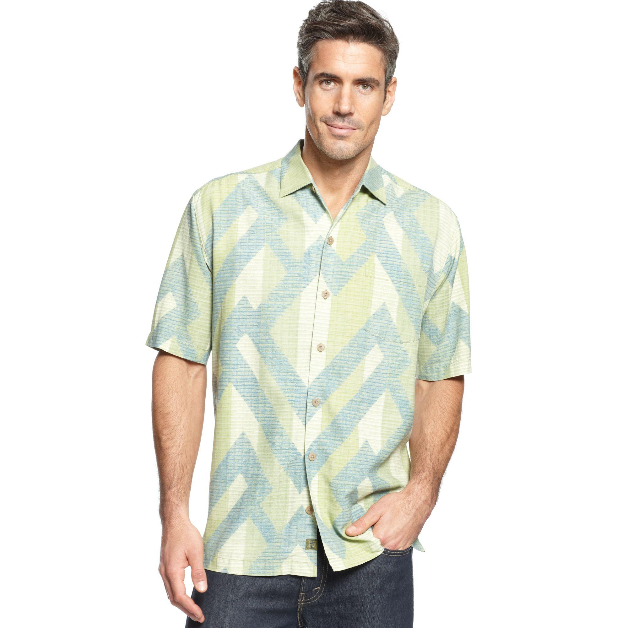 Tommy bahama ornate paradise short sleeve shirt in for Tommy bahama christmas shirt 2014