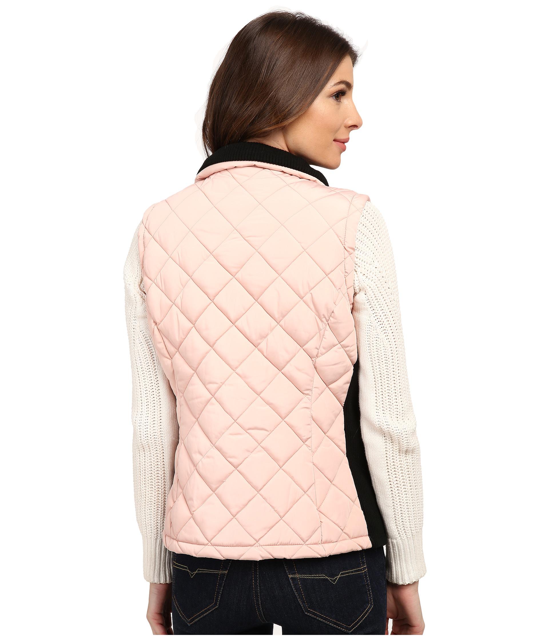 Lyst Calvin Klein Quilted Puffer Vest W Zip In Pink