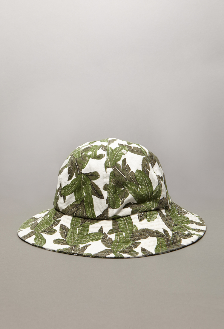 afb8ee55512 Lyst - Forever 21 Tropical Print Bucket Hat in Green