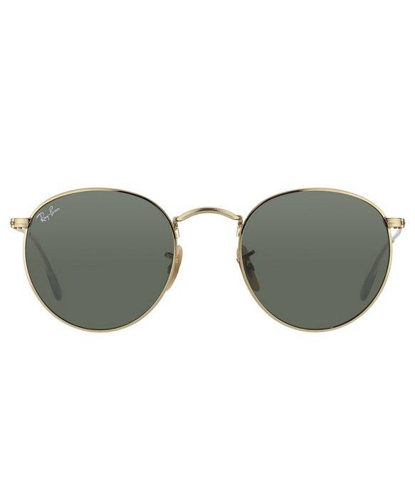 ray ban arista gold  Ray-ban Round Metal Rb 3447 001 Arista Gold Round Metal Sunglasses ...