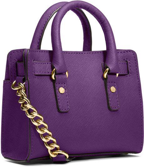 Michael Kors Michael Mini Hamilton Messenger Bag in Purple (VIOLET)