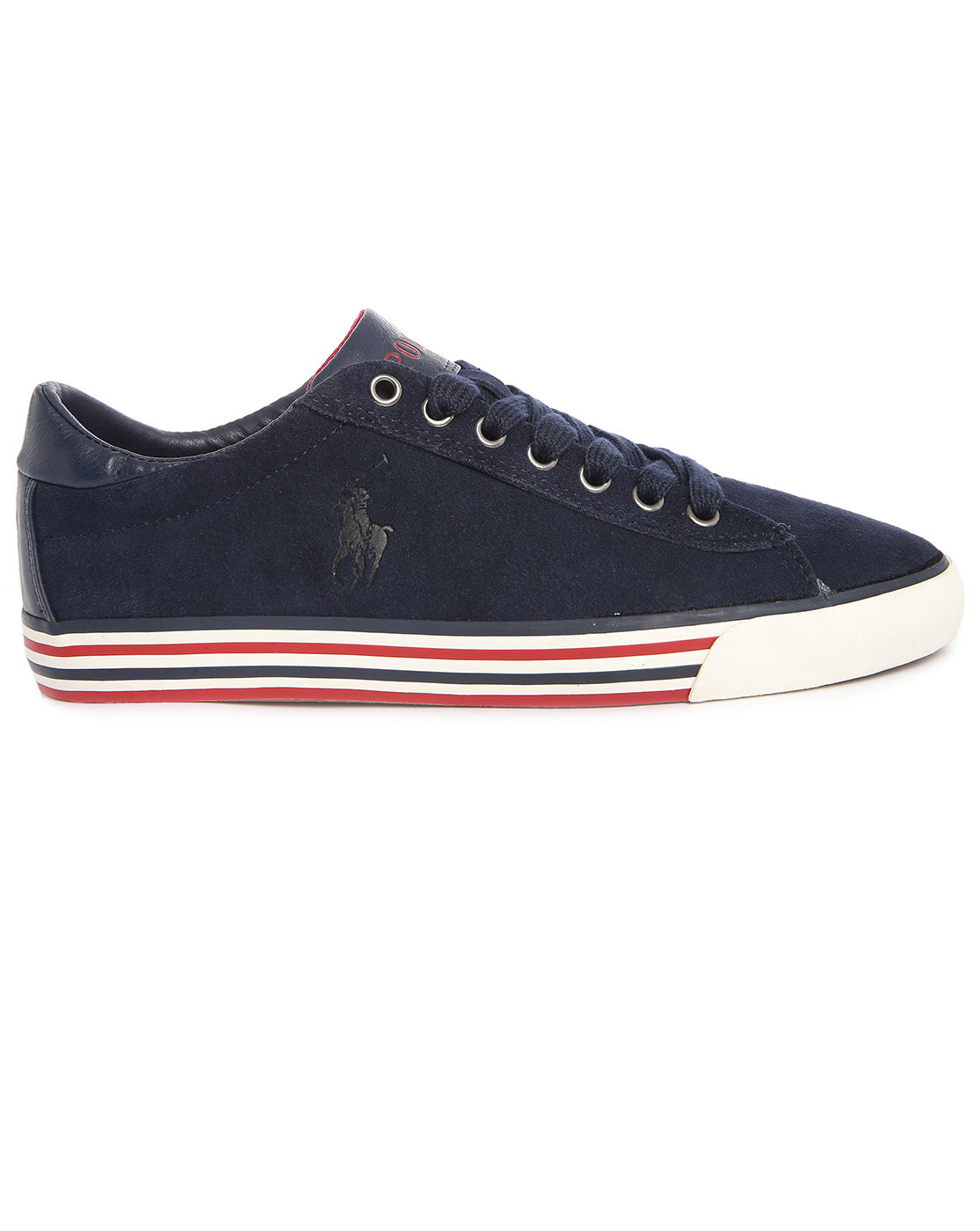 polo ralph lauren harvey navy suede striped sole sneakers in blue for. Black Bedroom Furniture Sets. Home Design Ideas