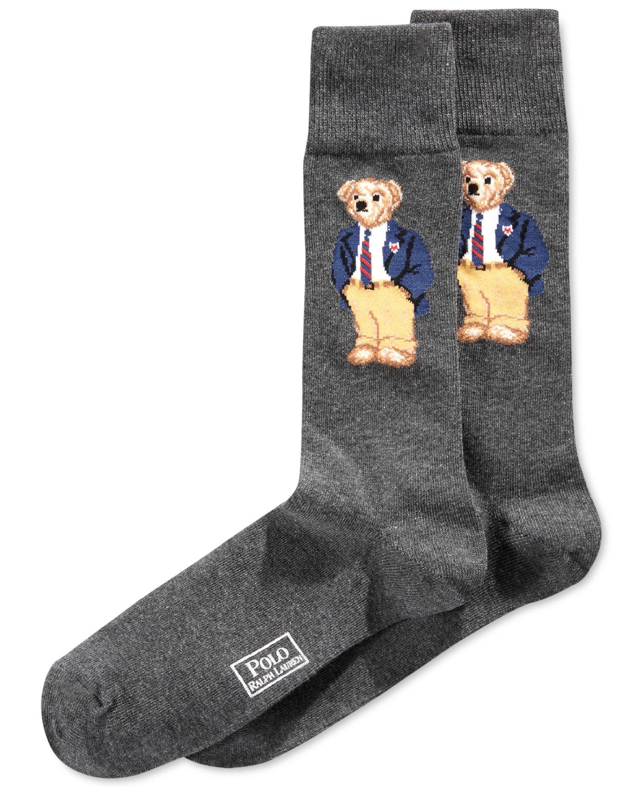 8cf3b1a485655 Lyst - Polo Ralph Lauren Office Bear Socks in Gray for Men