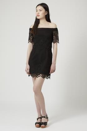 Bardot dress black lace
