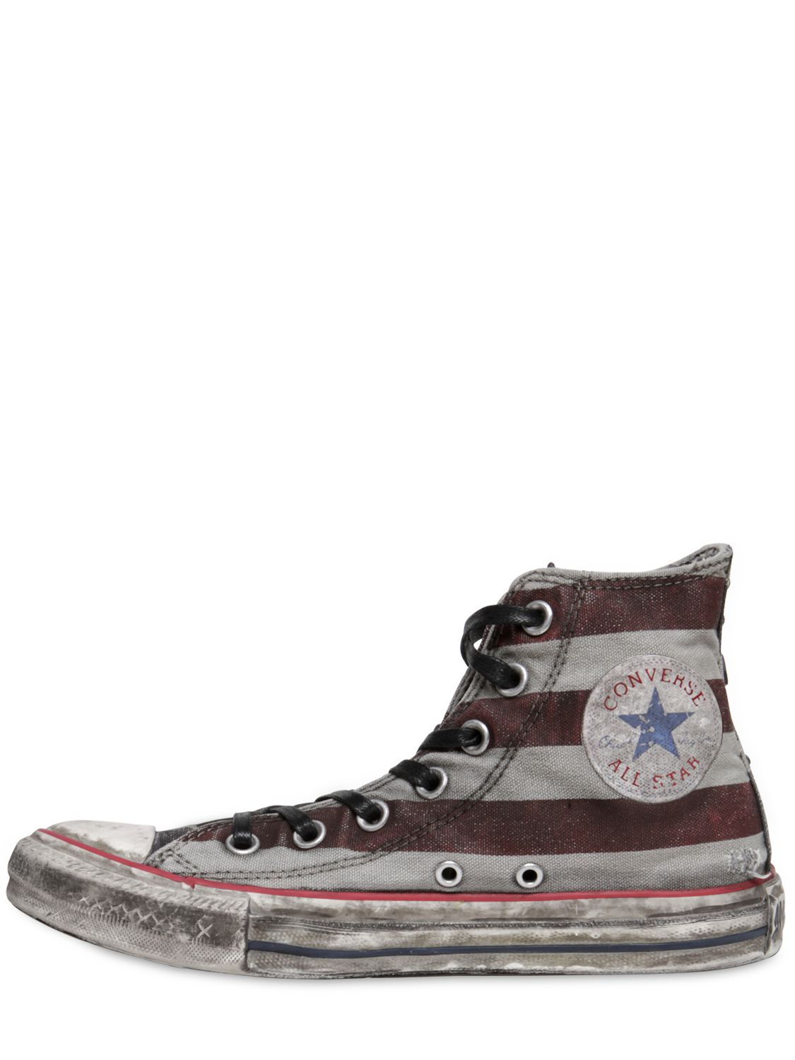 competitive price 1b072 ba39d Converse Stars   Bars Canvas High Top Sneakers in White for Men - Lyst