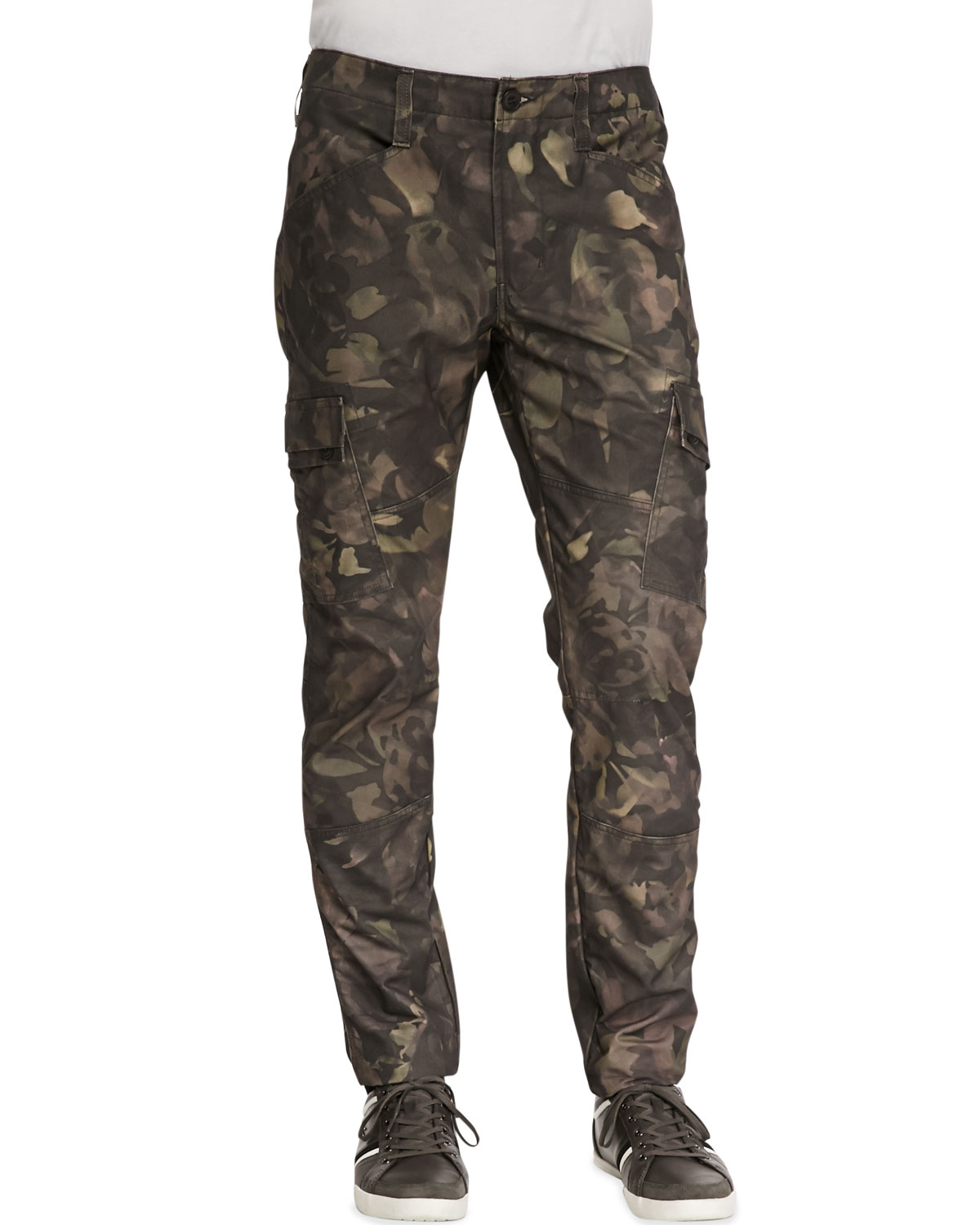 J brand Trooper Camo Cargo Twill Pants in Green for Men | Lyst