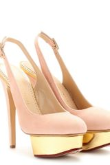 Charlotte Olympia Dolly Sling Backs in Pink (blush) - Lyst