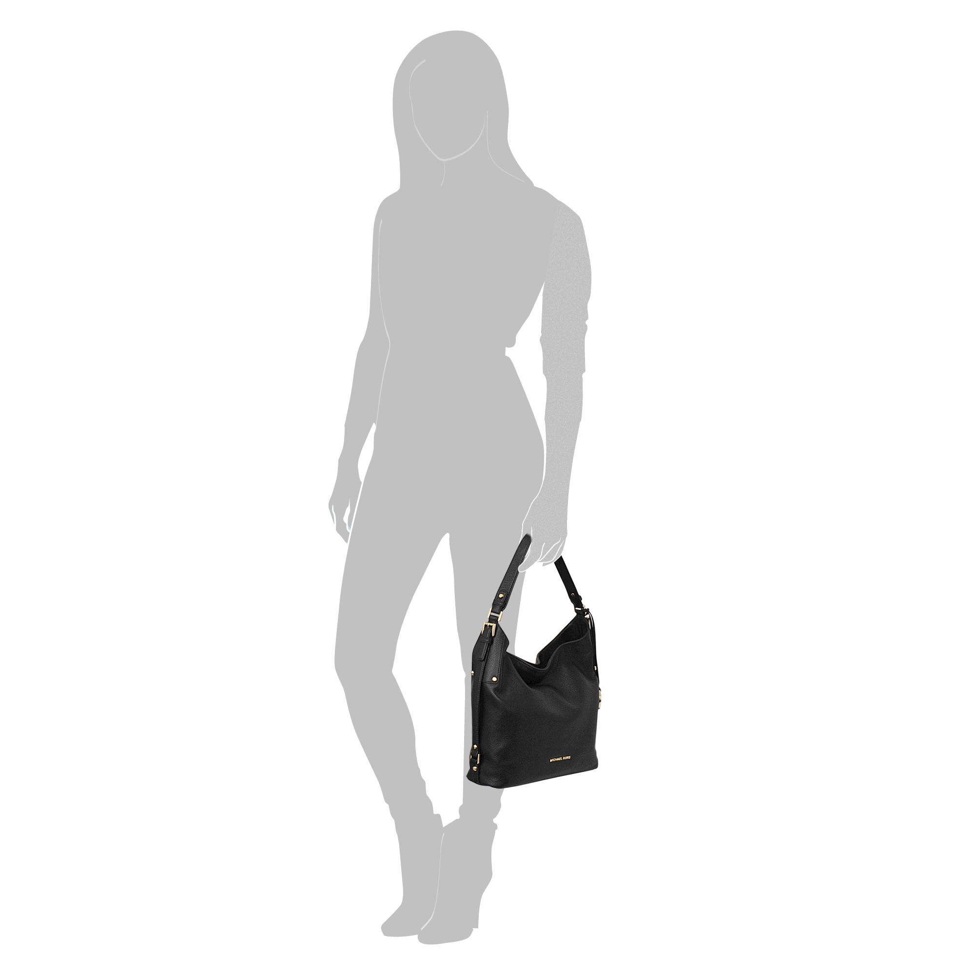 449fd212d0fb49 MICHAEL Michael Kors Bedford Medium Belted Lg Shoulder Bag in Black - Lyst