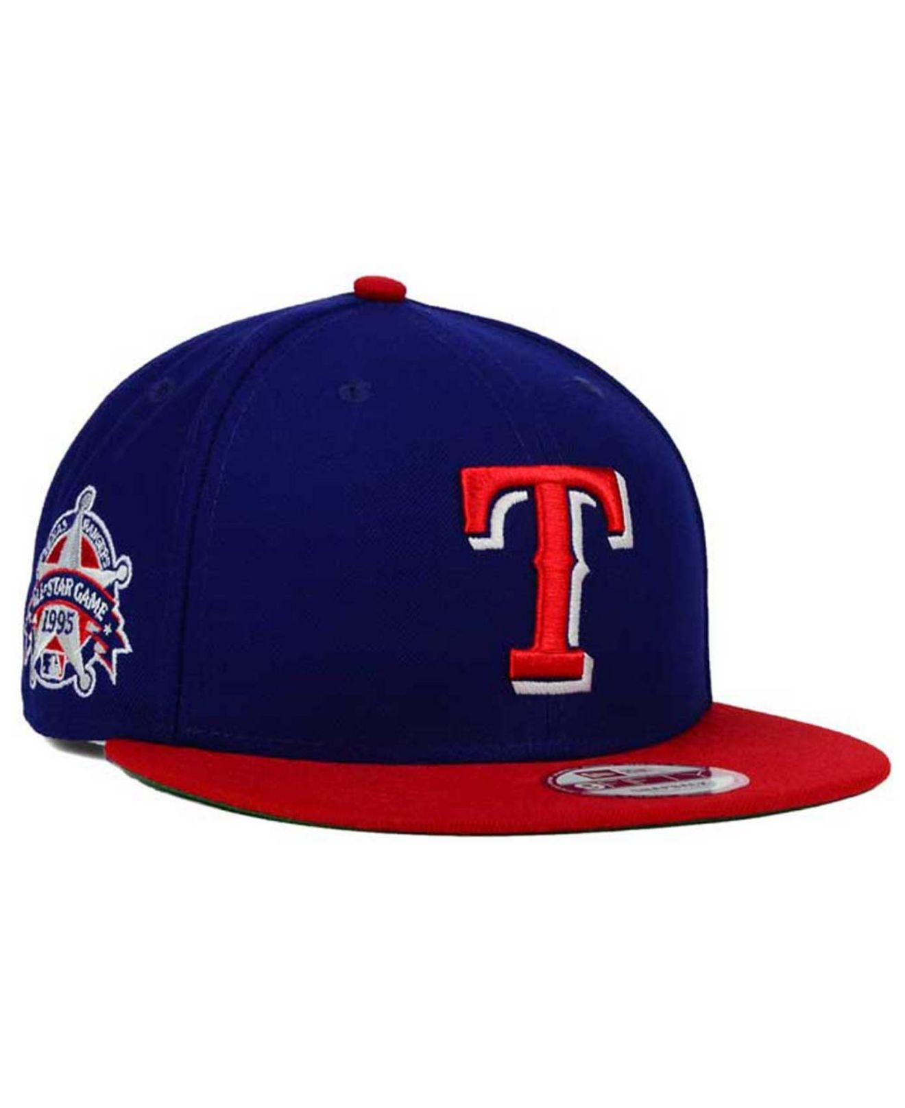 best sneakers 2516c f55db ... cheap lyst ktz texas rangers all star patch 9fifty snapback cap in blue  3e8c8 d3534
