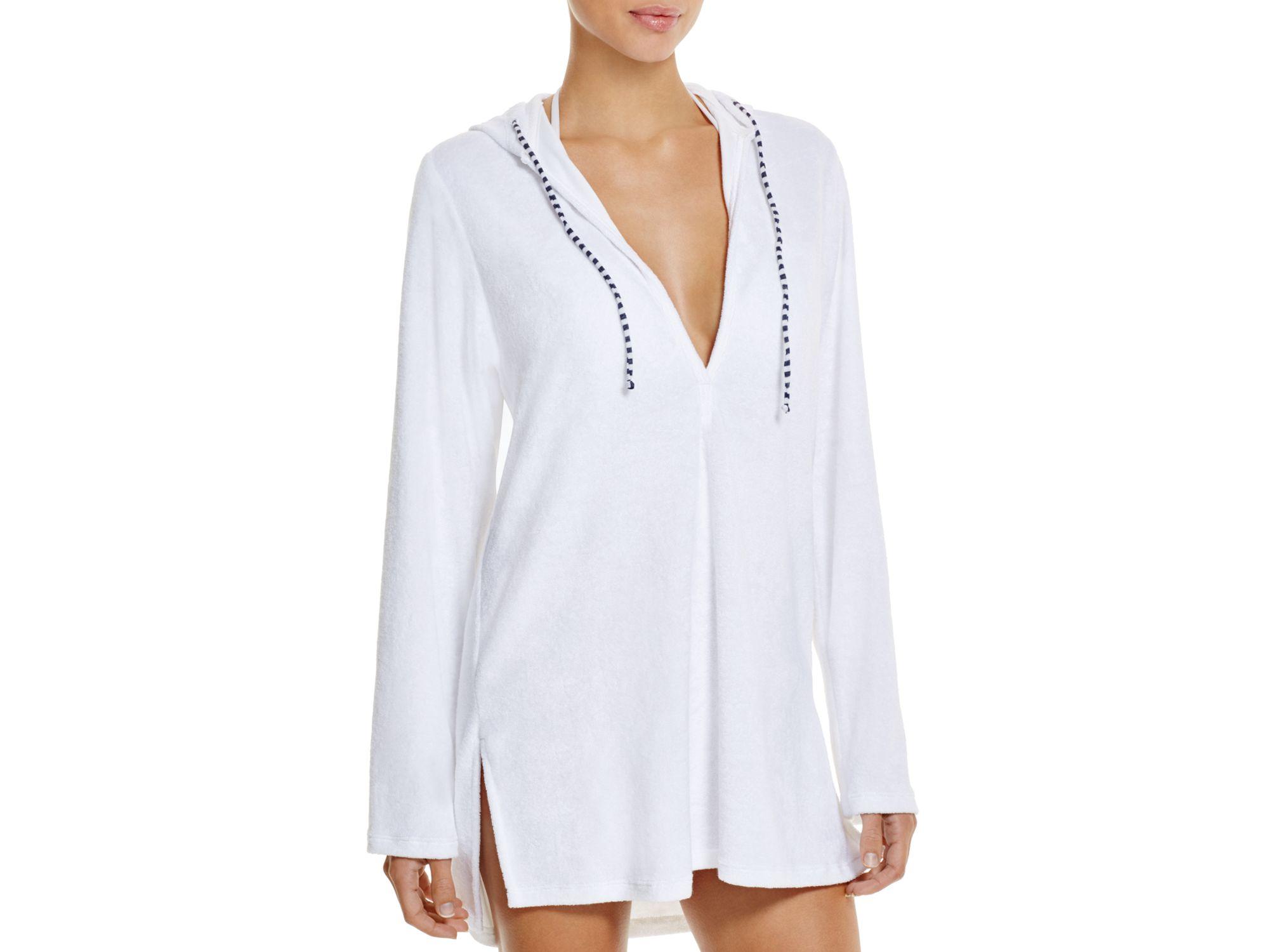 f8091ee5e1534 Splendid Hamptons Terry Tunic Swim Cover Up in White - Lyst